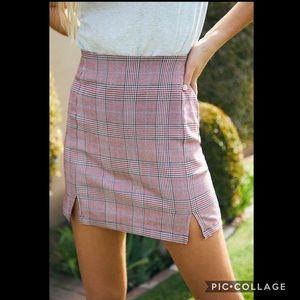 John Galt plaid skirt size XS